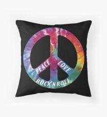 Peace, Love, Rock N' Roll Throw Pillow