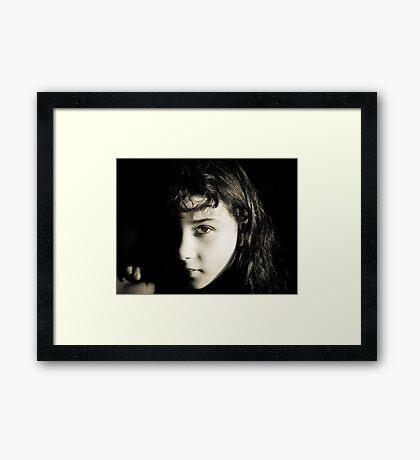 My Brown-Eyed Girl Framed Print