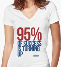 Ninety five percent Women's Fitted V-Neck T-Shirt