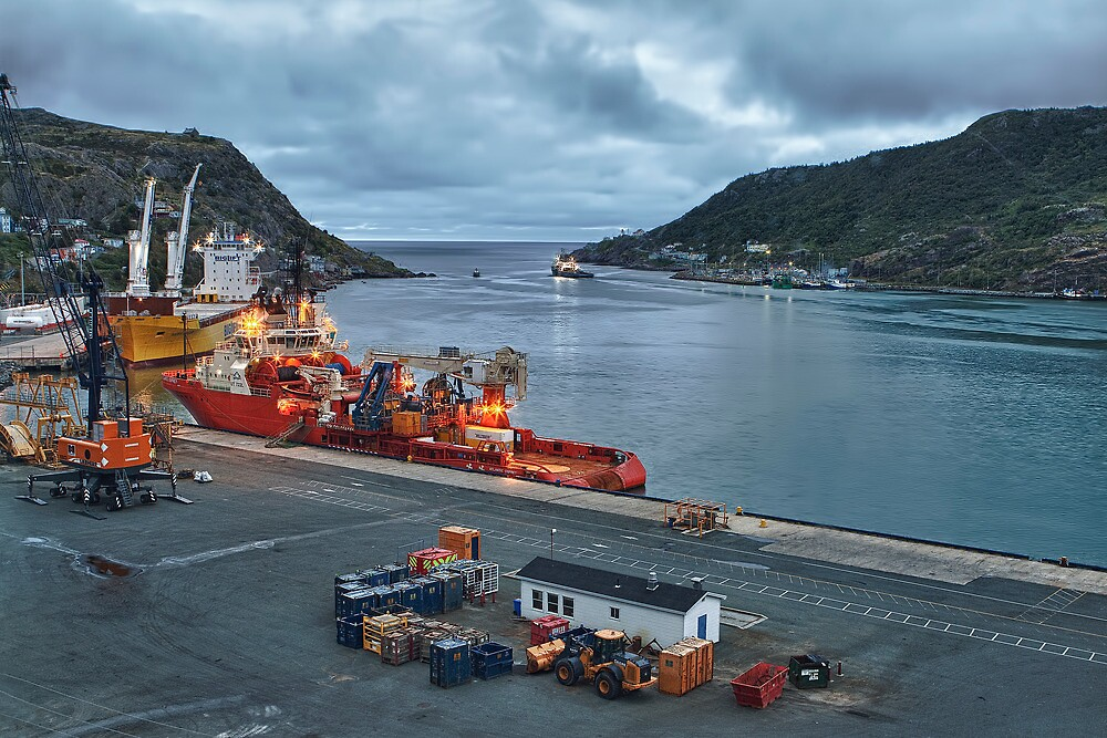 St. John's Harbour by Eunice Gibb