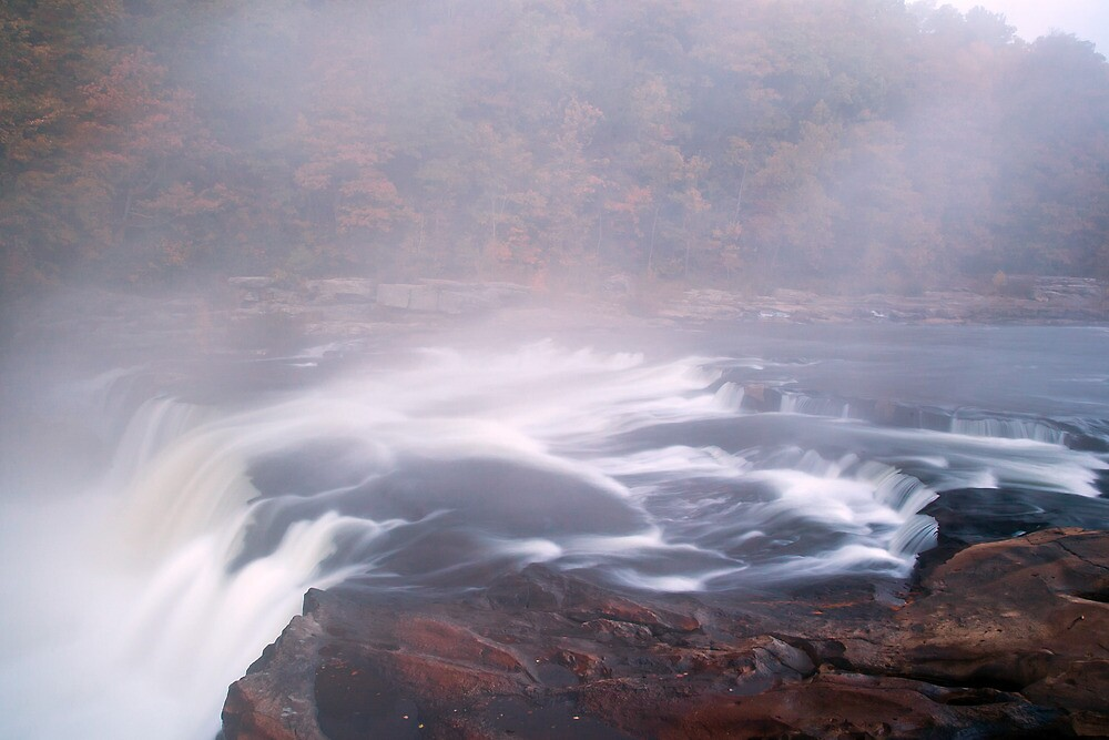 Ohiopyle Falls with rapids by Paul Kavsak