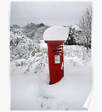 Snowy Postbox Poster