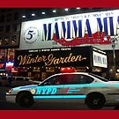 NYPD patrol, Broadway, New York by Bev Pascoe
