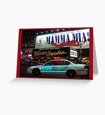 NYPD patrol, Broadway, New York Greeting Card