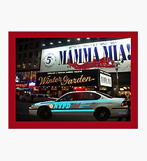 NYPD patrol, Broadway, New York Photographic Print