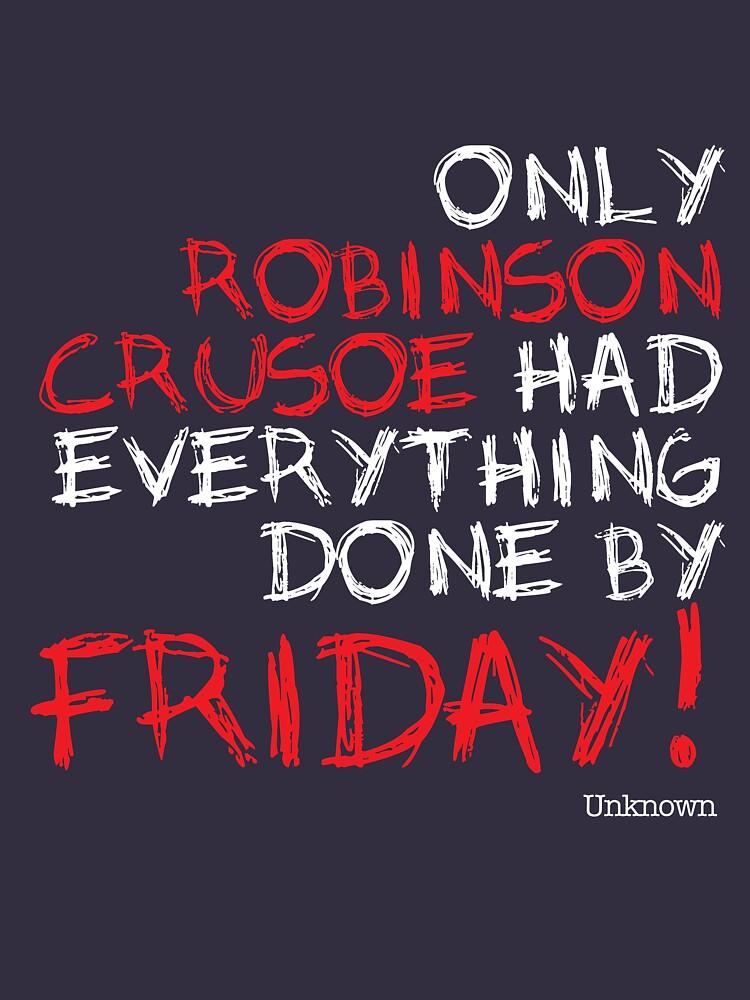 Only Robinson Crusoe (Dark) by InkSpotCreative