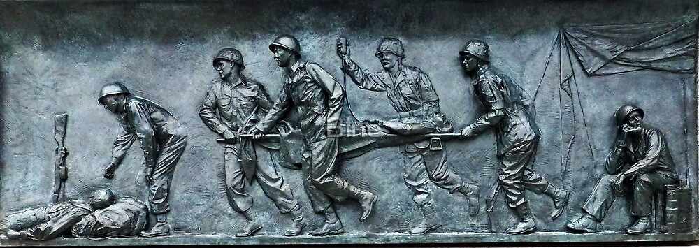 Fresco - WW II Memorial, Washington, D.C. by Bine