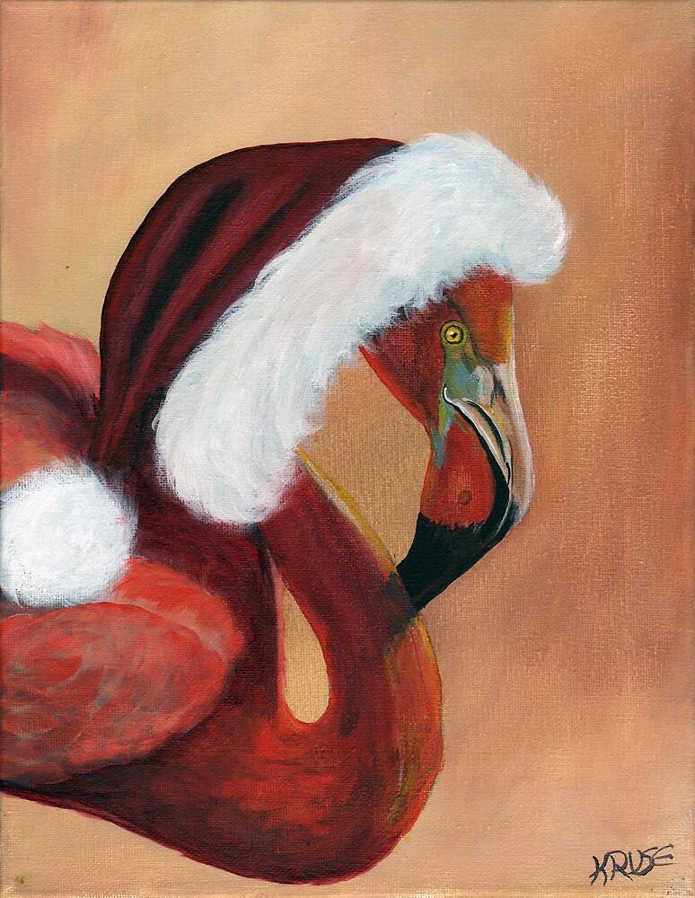 Christmas Flamingo by James Kruse