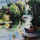 Summer At The Creek by Barbara Pommerenke