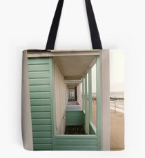 View through the huts Tote Bag