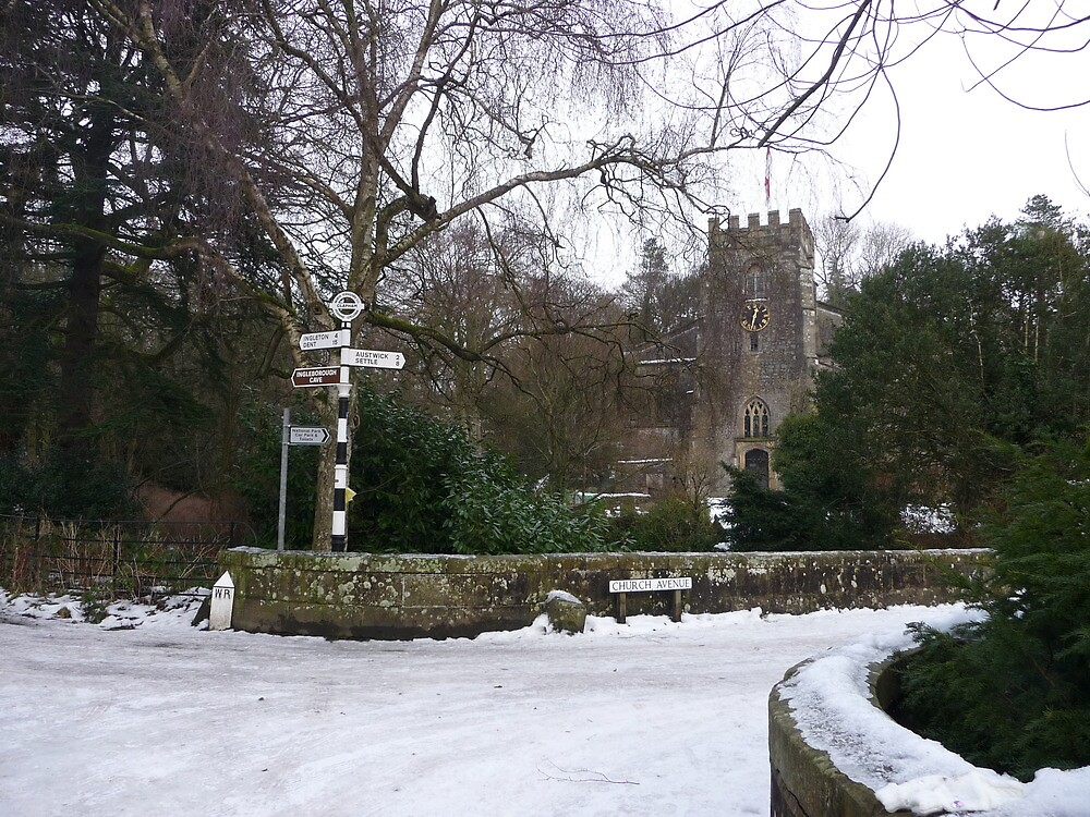 Clapham Church in Winter by Paul Swift