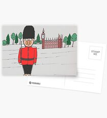 London Guard Pig Postcards