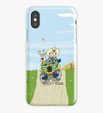 Yellow Willys CJ2A jeep! iPhone Case/Skin