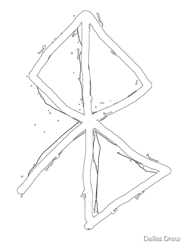 Peace Viking Symbol A Rune Based Symbol Meaning Peace