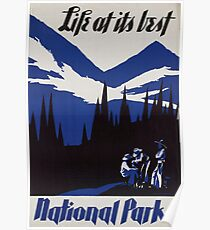 Weinleseplakat - Nationalparks Poster