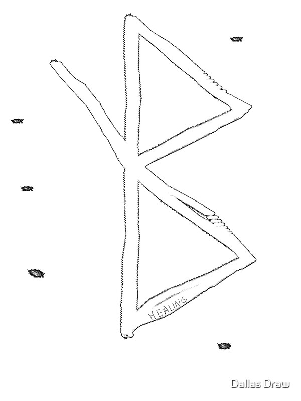Healing Viking Symbol A Rune Based Symbol Meaning Healing