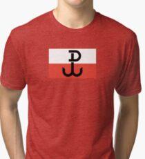 Flag of the Polish Underground State, 1939-1945 Tri-blend T-Shirt