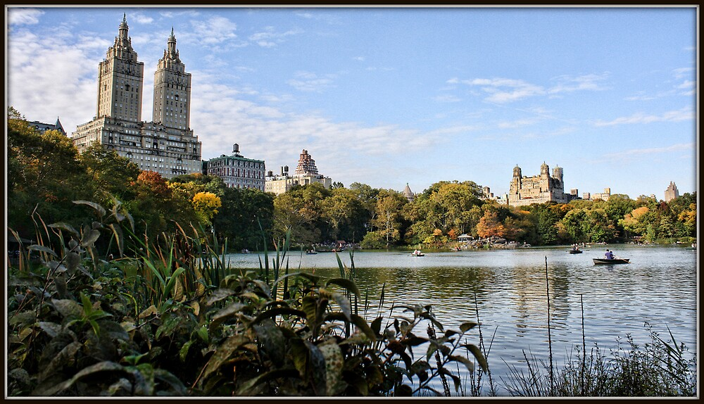The Lake in Central Park by Mikell Herrick
