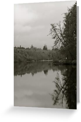 Reflection on Loch Ness   Scotland by rubbish-art
