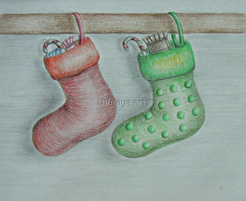 Christmas Socks by thuraya arts
