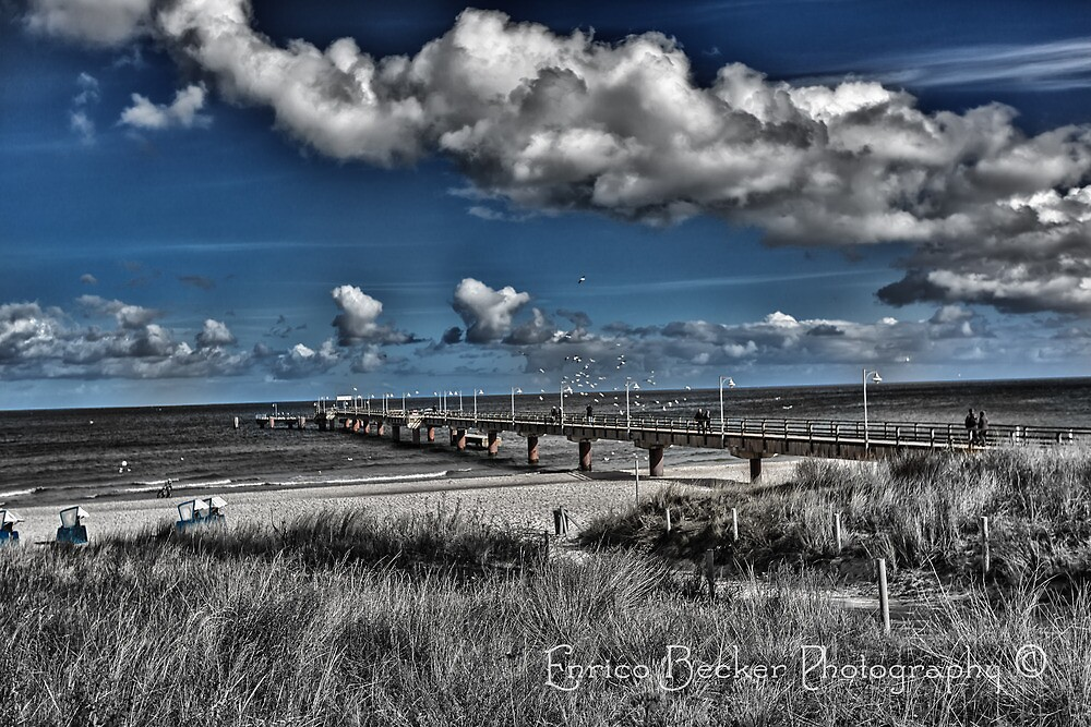 Sea Bridge of Göhren  by Enrico Becker