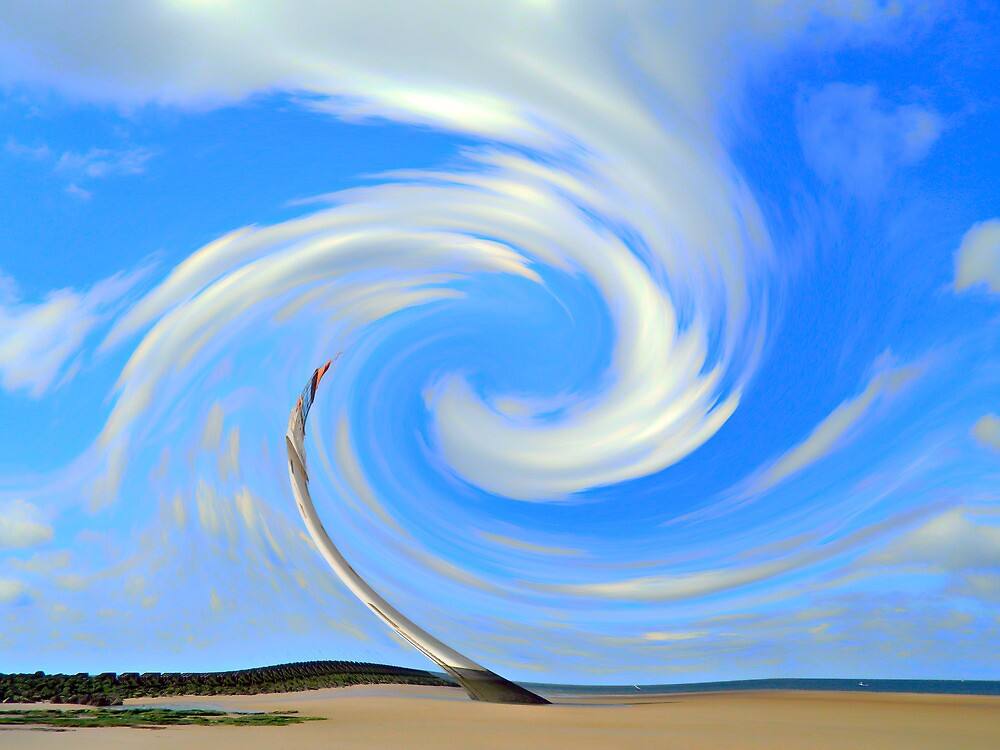Swirling Clouds at Perch Rock by DavidWHughes
