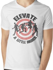 Elevate (Distressed look) Mens V-Neck T-Shirt