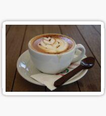 Americano Coffee with Tulip Design Sticker