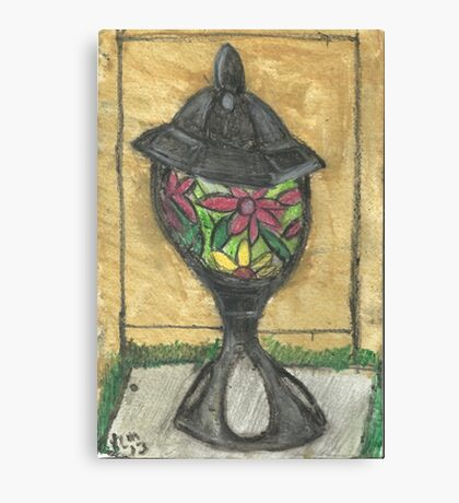 Stained Glass Lantern Canvas Print