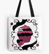 Naughty But Nice Gothic Cupcake Tote Bag