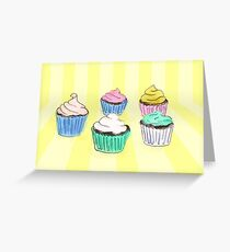 Colourful cupcakes you want to eat Greeting Card