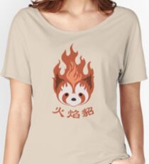Legend of Korra: Fire Ferrets Pro Bending Emblem Women's Relaxed Fit T-Shirt