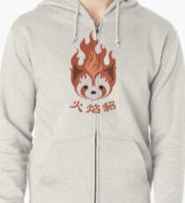 Sudadera con capucha y cremallera Leyenda de Korra: Emblema Pro Bending Fire Hurones
