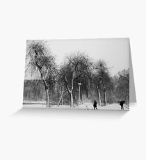 Braving the snowstorm Greeting Card