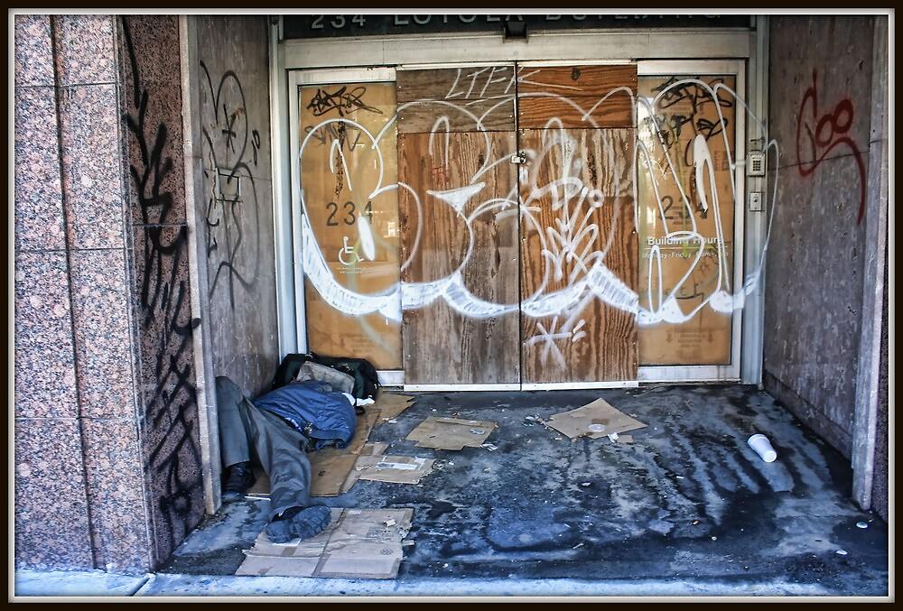Graffiti Doorway Bedroom by Mikell Herrick