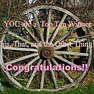 Top Ten Winner - Wagon Wheel by MaryinMaine