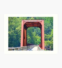 Old Railway Bridge Art Print