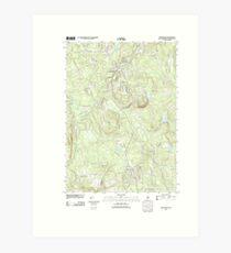 USGS TOPO Map New Hampshire NH New Boston 20120508 TM Art Print