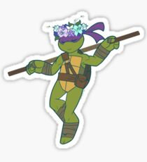 Flower Power Donatello Sticker