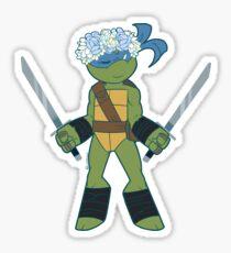 Flower Power Leonardo Sticker