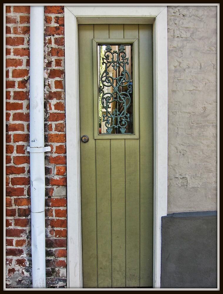 Skinny Green Door by Mikell Herrick