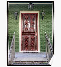 Red Iron Door Poster