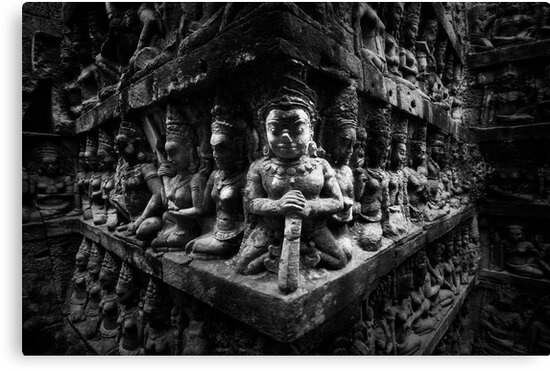 Wall of Faces, Cambodia by Michael Treloar