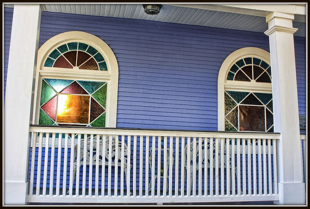 Stained Glass Porch Windows by Mikell Herrick