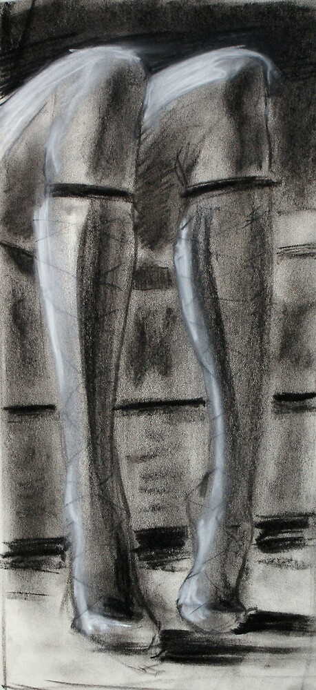 Stockings - life drawing study by Ian MacQueen