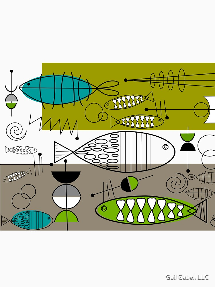 Mid-Century Modern Fish Art by gailg1957