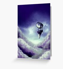 Blue Arrival Greeting Card