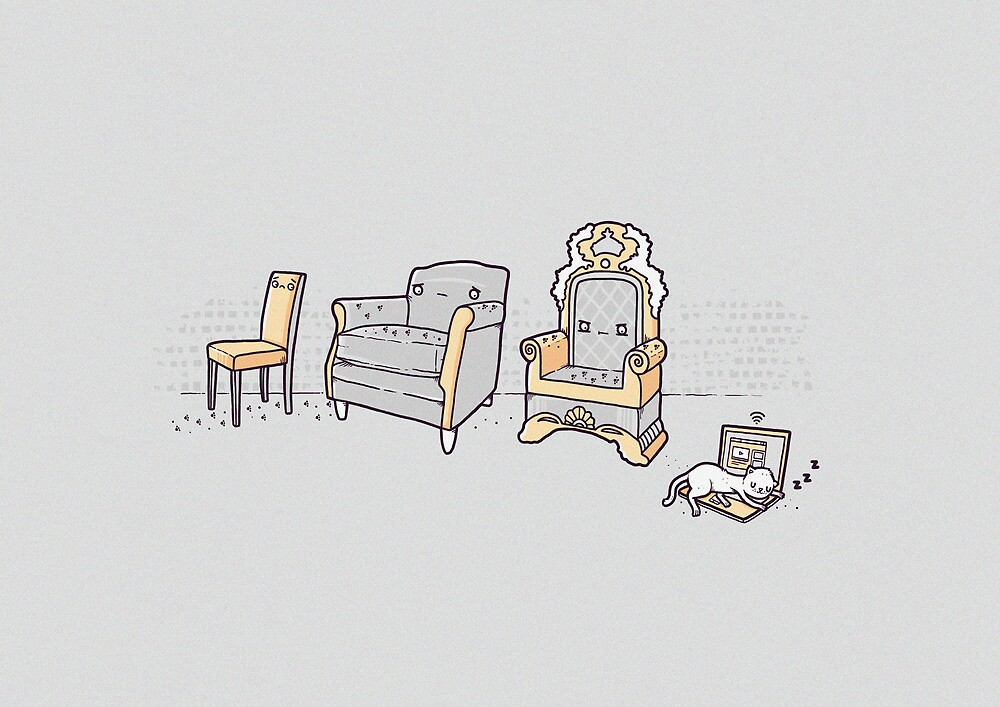 Cats and chairs by Randyotter