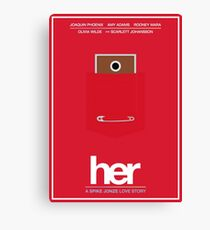 Her film poster Canvas Print