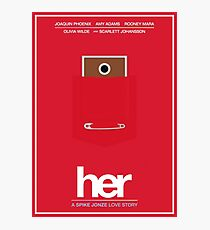 Her film poster Photographic Print